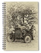 Left Fielder Antique Spiral Notebook