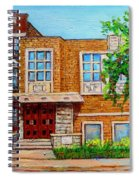 Legare And Hutchison Synagogue Montreal Spiral Notebook