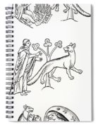 Legend Of The Priest And People Changed Spiral Notebook