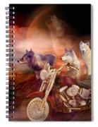 Legend Of Wolf Mountain Spiral Notebook