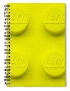 Lego Block Yellow Spiral Notebook