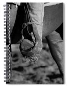 Legs Black And White Spiral Notebook