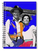 Leif Erickson Linda Cristal The High Chaparral Set Publicity Photo Old Tucson Arizona C. 1967-2012 Spiral Notebook