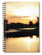 Lely Sunrise Over The Flamingo Spiral Notebook