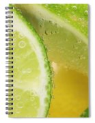 Lemon And Lime Slices In Water Spiral Notebook