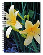 Lemon Lily Blooms Spiral Notebook
