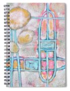 Lemon Rocks Paperclips And Water Trails Spiral Notebook