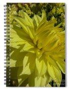 Lemon Yellow Dahlia  Spiral Notebook
