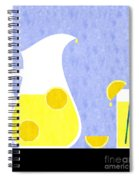 Lemonade And Glass Blue Spiral Notebook