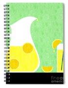 Lemonade And Glass Green Spiral Notebook