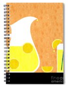 Lemonade And Glass Orange Spiral Notebook