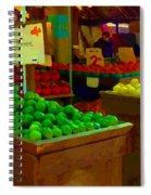 Lemons And Limes Farmers Market Food Stalls Market Vendors Vegetable Food Art Carole Spandau Spiral Notebook