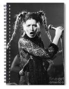 Lene Lovich Spiral Notebook