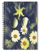 In The Gothic Night With  Stars Spiral Notebook