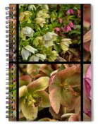 Lenten Rose Collage Spiral Notebook
