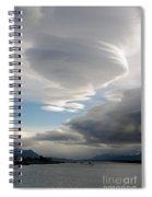 Lenticular Cloud Over Puerto Natales Spiral Notebook