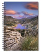 Lenticular Clouds At Canales Lake Spiral Notebook