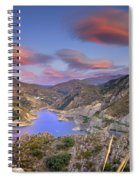 Lenticular Clouds At The Red Sunset Spiral Notebook