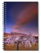 Lenticular Clouds Over Almond Trees Spiral Notebook