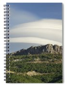Lenticular Clouds Over Dornajo Mountain Spiral Notebook