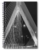 Leonard P. Zakim Bunker Hill Memorial Bridge Bw Spiral Notebook