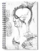 Leonardo: Brain, C1490 Spiral Notebook
