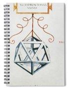Leonardo Icosahedron Spiral Notebook