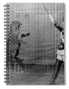 Leopard Trainer, C1906 Spiral Notebook