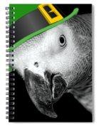 Leprechaun Parrot Spiral Notebook