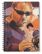 Leroi Moore Purple And Orange Spiral Notebook