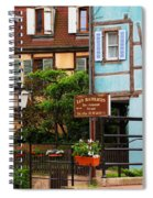 Les Bateliers In Colmar France Spiral Notebook