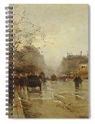 Les Boulevards Paris Spiral Notebook