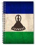 Lesotho Flag Vintage Distressed Finish Spiral Notebook