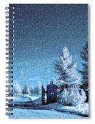 Let It Snow Blue Version Spiral Notebook