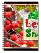 Let It Snow Spiral Notebook