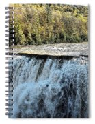 Letchworth State Park Middle Falls In Autumn Spiral Notebook