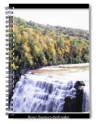 Letchworth State Park Middle Falls Panorama Spiral Notebook