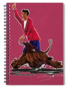 Lets Tango In Red Spiral Notebook