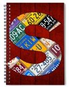 Letter S Alphabet Vintage License Plate Art Spiral Notebook