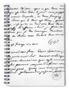 Letter To Voltaire From King Frederick Spiral Notebook