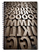 Letters Sepia Spiral Notebook