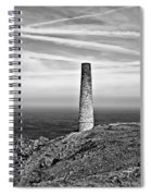 Levant To Pendeen View Black And White Spiral Notebook