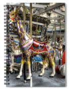 Levitating Giraffe Spiral Notebook
