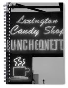 Lexington Candy Shop In Black And White Spiral Notebook