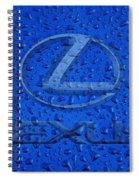 Lexus Rainy Window Visual Art Spiral Notebook