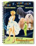 Lhasa Apso Art - The Seven Year Itch Movie Poster Spiral Notebook