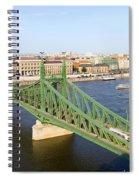 Liberty Bridge And Budapest Skyline Spiral Notebook