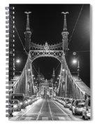 Liberty Bridge At Night Spiral Notebook