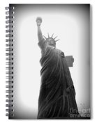 Liberty In Black And White Spiral Notebook