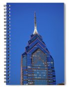 Liberty Place Skyscrapper At Dusk Spiral Notebook